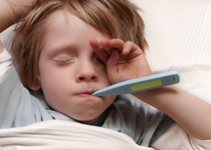 علاج الحمى (ارتفاع درجة الحرارةالسخونة) فى الاطفال